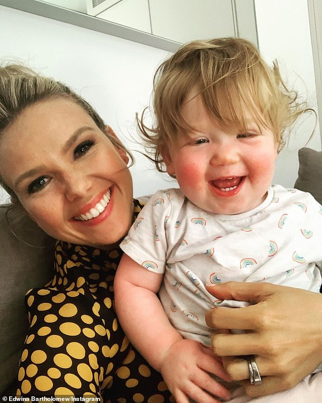 Terrifying:Last month meanwhile, Edwina relived the terrifying moment her one-year-old daughter Molly was rushed to hospital