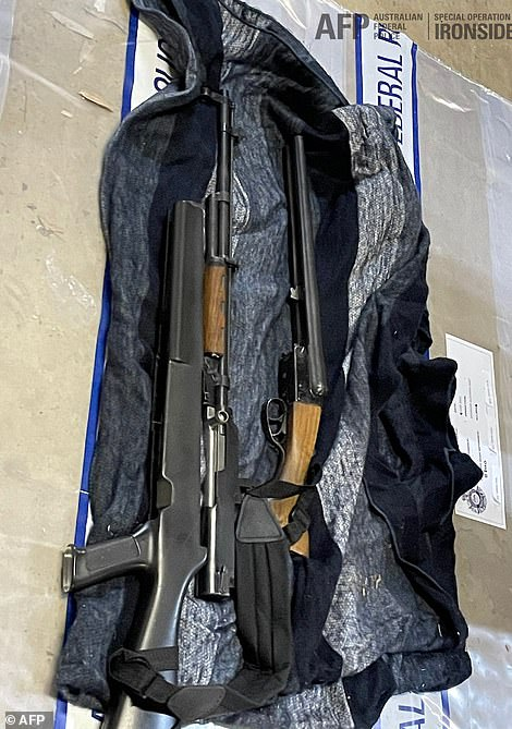 A bolt action rifle and a shotgun seized by the police