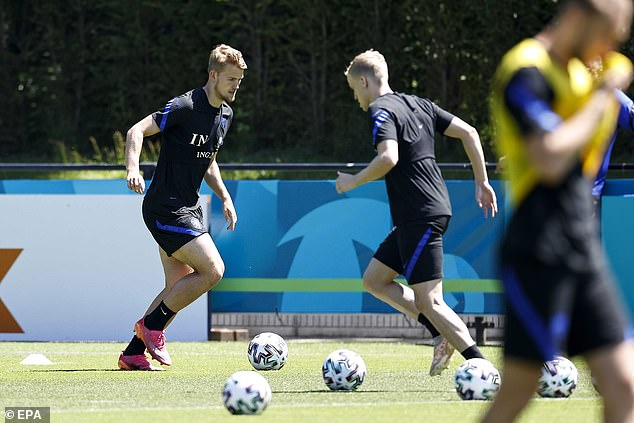 After training inZeist, Holland on Monday, Van de Beek was ruled out of the Euros on Tuesday