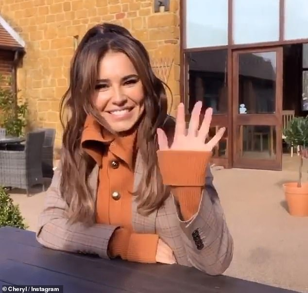 Hopes for the future: Liam recently spoke about Cheryl's desires for their child, including her hopes he will be a 'yoga person' (pictured in February)