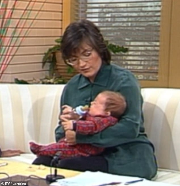 Way back when:Lorraine Kelly shared an adorable throwback clip with daughter Rosie from 1994 as she marked her mini-me's 27th birthday on Tuesday