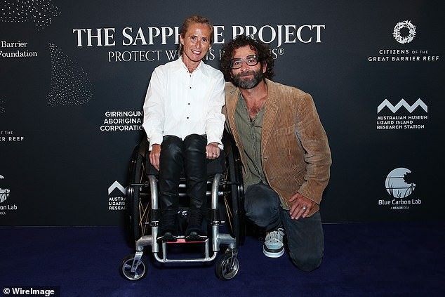 Date night:Sam and Cameron Bloom were also on hand, posing happily together ahead of the charity event