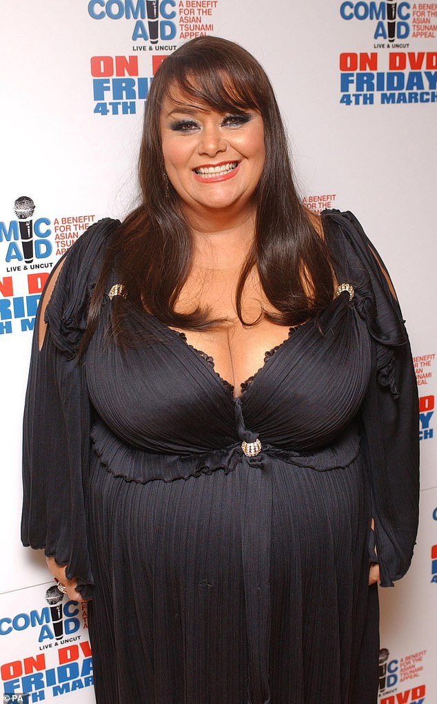 Before: The comedian dramatically starting losing weight in 2011 following her split from Lenny Henry (pictured in 2007)