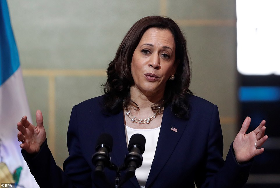 Harris doubled-down that she will not be visting the border during her trip ¿ or any time soon. 'I will continue to be focused on [addressing root causes of migration and corruption] as opposed to grand gestures'