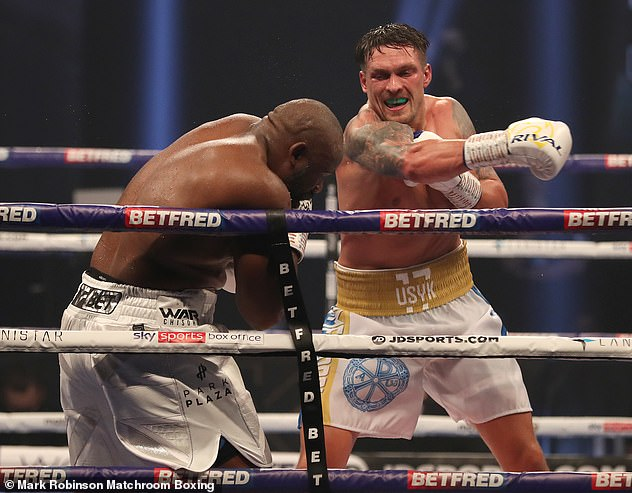 Usyk, seen here beating Derek Chisora, is a dangerous opponent, admits Eddie Hearn