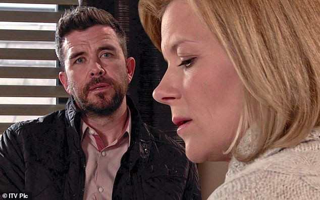 DS Glynn visits Leanne (pictured) to impress upon her the importance of nailing Harvey in this week's Coronation Street