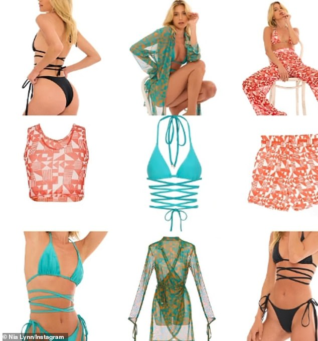'This is my favorite collection yet!' Nicolewill next drop her 'summer' swimwear line for Nia Lynn, named after her mother and niece, on June 15 at 10am PST through LA Collective