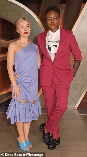 Style: Strictly Come Dancing star Nicola Adams and her girlfriend Ella Baig looked every inch the happy couple at the screening