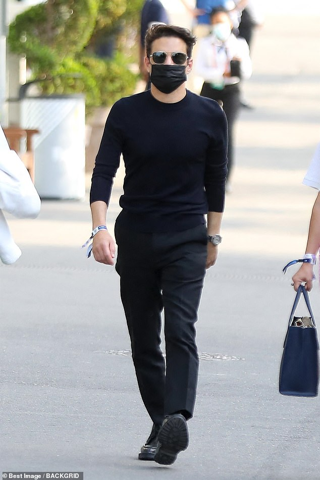 Dapper: The actor looked handsome in his stylish outfit as he walked along