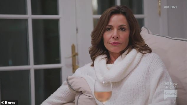 Saying sorry:Ultimately, Luann apologized to Eboni and the two hugged with Luann saying 'I hope this was still the best day'