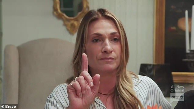 Serious matter:Back at Luann's house party, Heather interjected herself into the situation telling Luann that what just happened with Eboni was serious