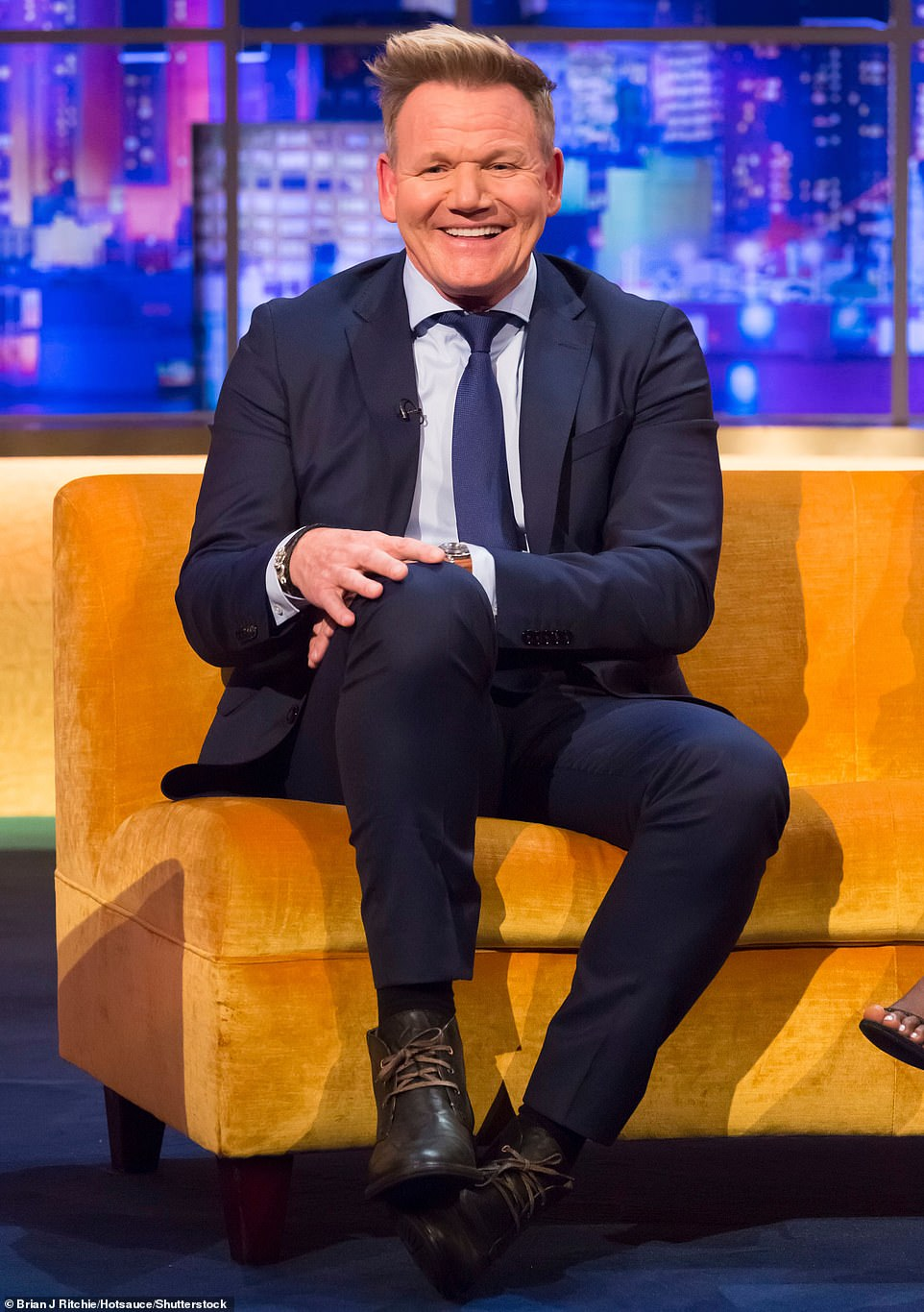 Plans!Gordon Ramsay is reportedly planning a lavish basement renovation at his £7million London mansion which will include an additional bedroom, shower, wine room and plant area (pictured in 2019)