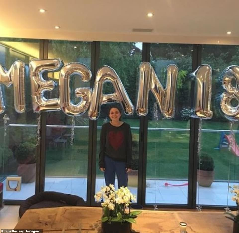 Lovely: Gordon regularly shares glimpses inside his family home to social media, which he splits his time in between his other £4.4million holiday house in Cornwall (Megan pictured in 2016)