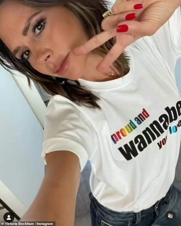 Proud! Victoria Beckham has joined forces with The Spice Girls to launch a limited edition Pride T-shirt to raise money for LGBTQ+ youth homelessness charity, the Albert Kennedy Trust