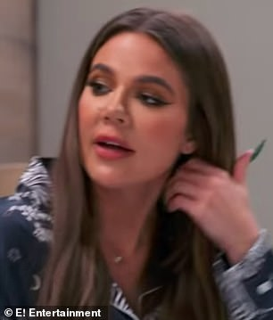 Who me? Khloe talks it out with her older sister