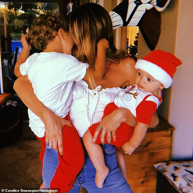 Family is everything:Candice is mom to sons Anaca, four, and Ariel, two, with Brazilian model Hermann Nicoli