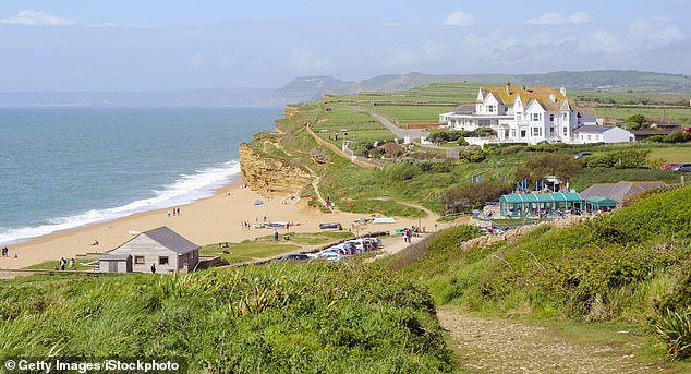 Shore things: The green-roofed Hive Beach Cafe in Dorset, where spider crabs are one of the specialities in peak season