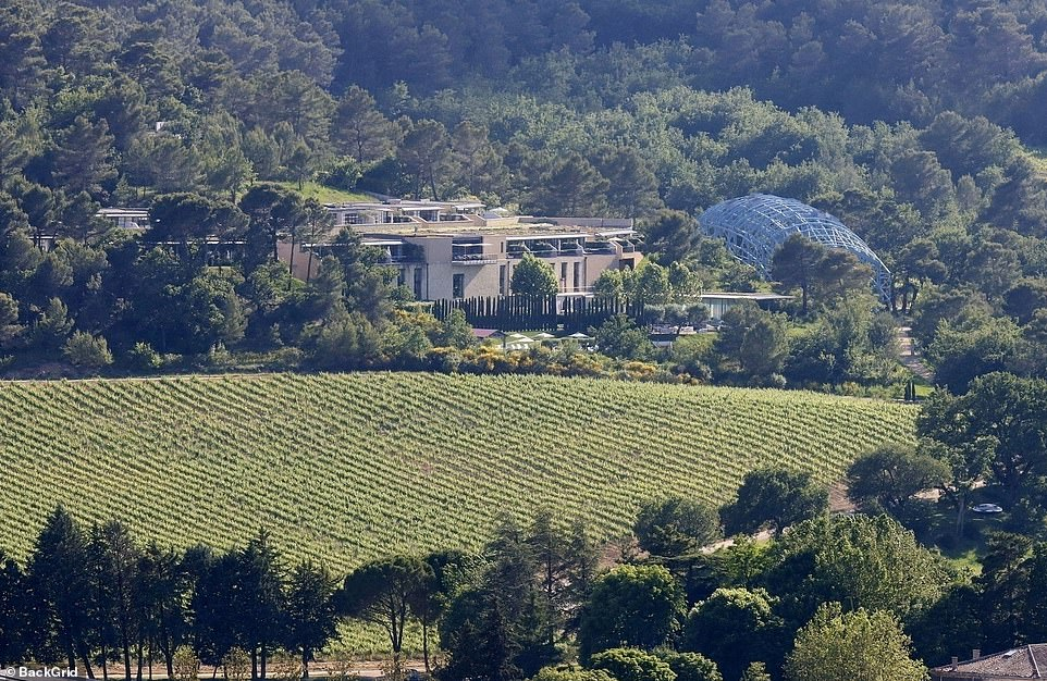 Love nest: The Villa La Coste boutique hotel can be seen above, where the couple are currently staying