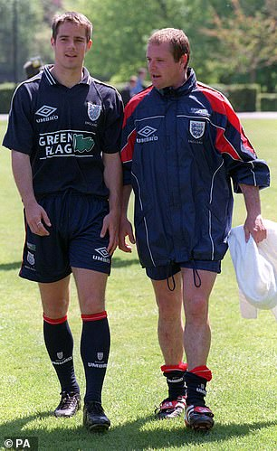 Redknapp and Gascoigne chat during their playing days together for the Three Lions