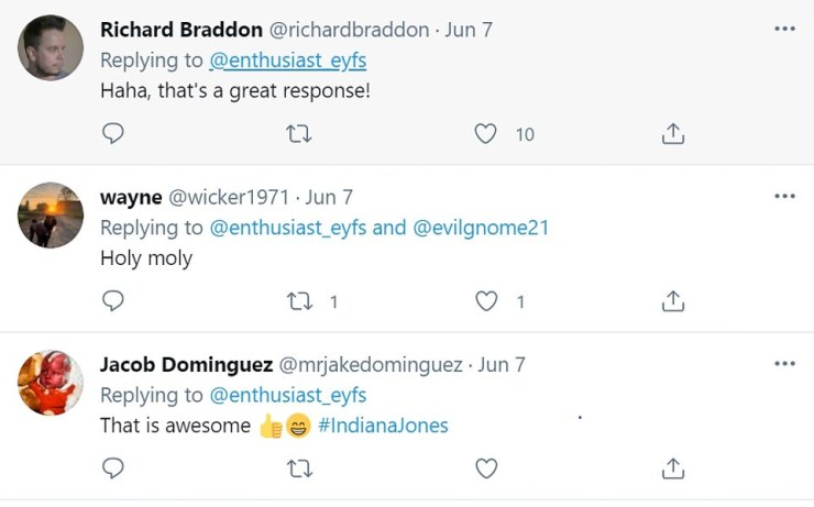 Cheeky quip: The fan who snapped the star in Grosmont revealed Harrison had responded cheekily when he was approached - with fans praising the star