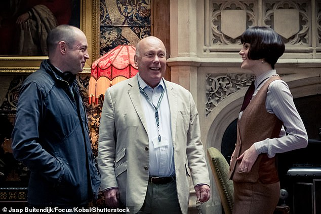 From the creator of Gosford Park: Production began in February for The Gilded Age, which was co-created by Downton Abbey mastermind Julian Fellowes (M, pictured in 2019) and writer Sonja Warfield