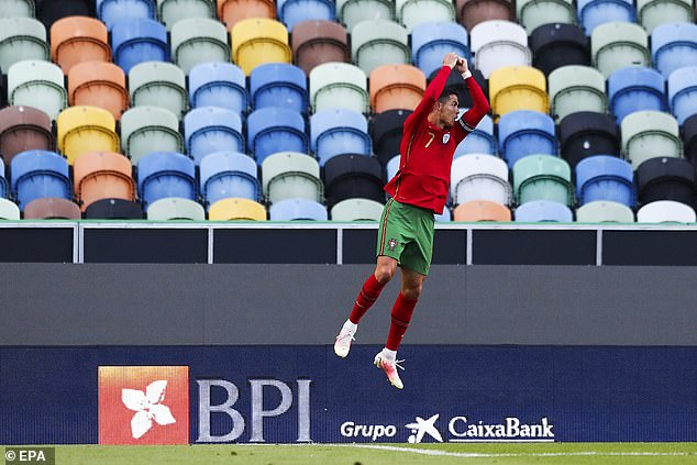 Cristiano Ronaldo had put Portugal 2-0 ahead in the 44th minute of the friendly in Lisbon