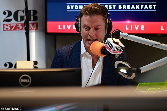 Cheeky! During an 'on this day in history' segment, Ben (pictured) announced it was Kyle's 60th birthday and said he was born on June 10, 1961