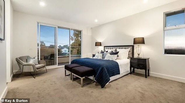 Plush: There are ensuites attached to three of the bedrooms, while one bedroom features a spacious walk-in robe