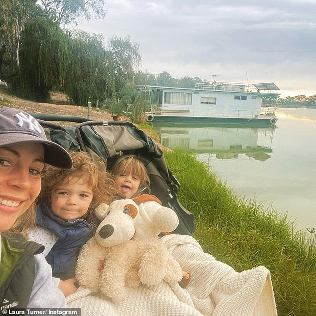 Her girls: In November 2018, Laura welcomed her twin daughters via an emergency C-section