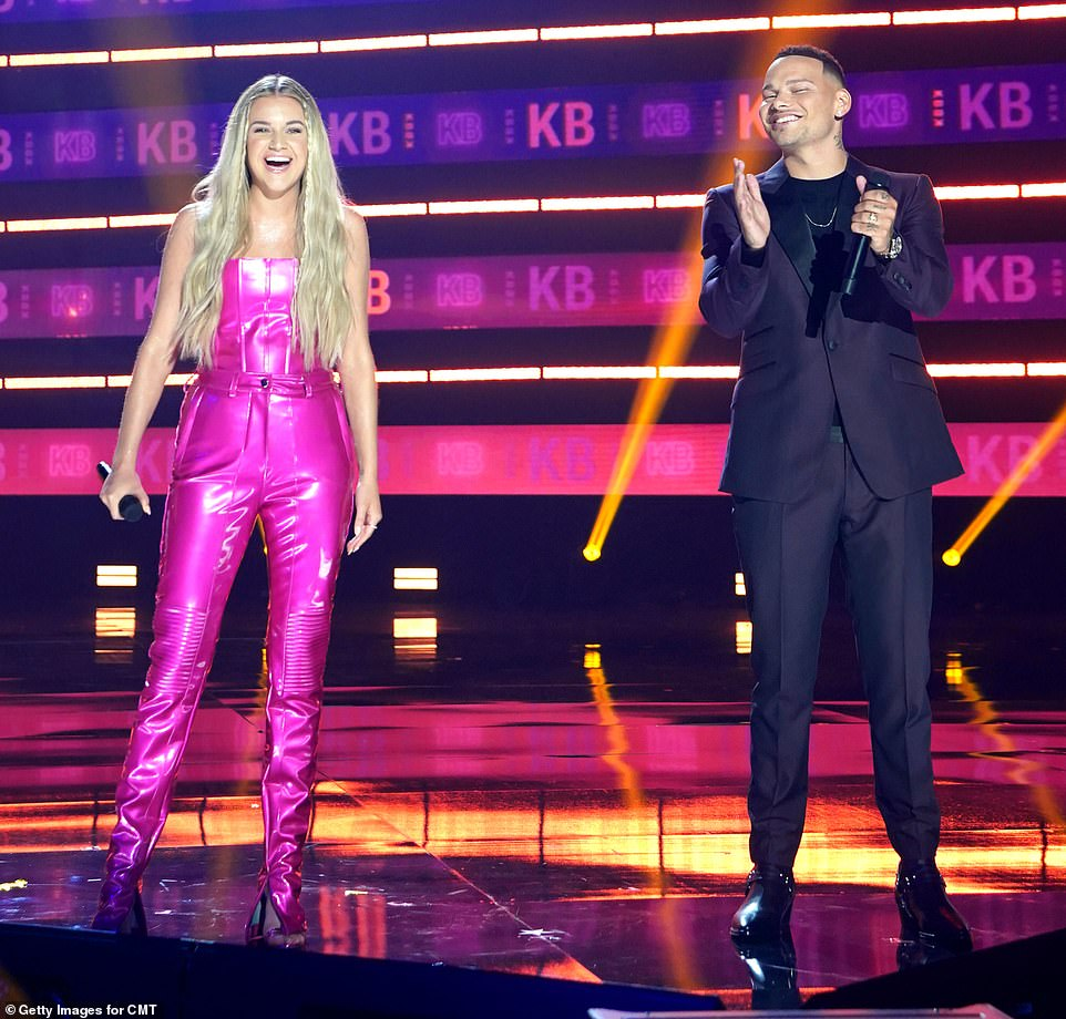 Back for more: Kane Brown is back hosting for the second year in a row, while Kelsea Ballerini is making her debut as co-host