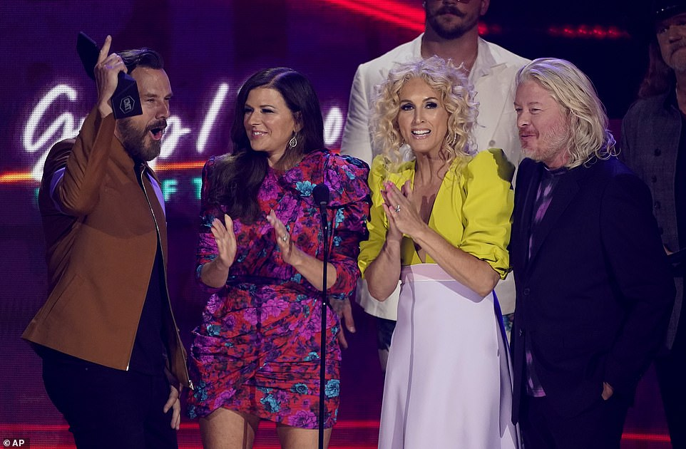 First win: Little Big Town kicked off Wednesday 2021 CMT Music Awards in Nashville with a win for Group/Duo Video of the Year with their song Wine, Beer, Whiskey
