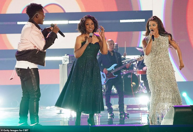Still got it: Knight is known more for soul music than country, and she hued toward her comfort zone throughout the thrilling performance. She held the final note long after Guyton and Breland gave up to show she still had it