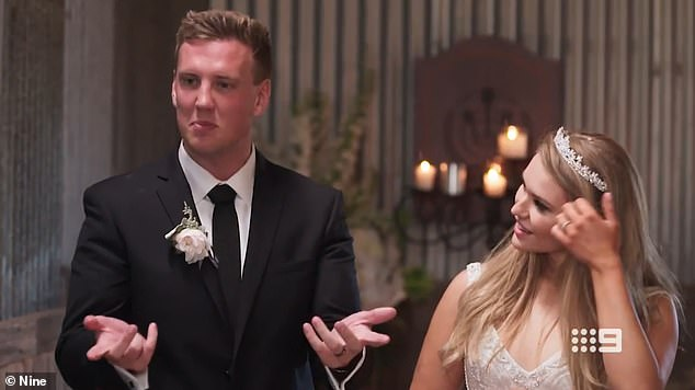 Exes: The couple started talking to each other in October of last year and initially planned to meet while Liam was still filming Married At First Sight, but decided to just stay friends as Liam focused on his relationship with his onscreen wife Georgia Fairweather (right)