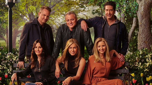 They're back: The reunion saw the cast including Matt LeBlanc, Jennifer, David, Courteney Cox, Lisa Kudrow and Matthew Perry reunite to talk about their time on the show