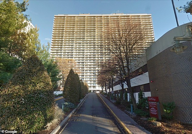 Adams owns a condo in this Fort Lee building with his partner, Tracey Collins, an educator
