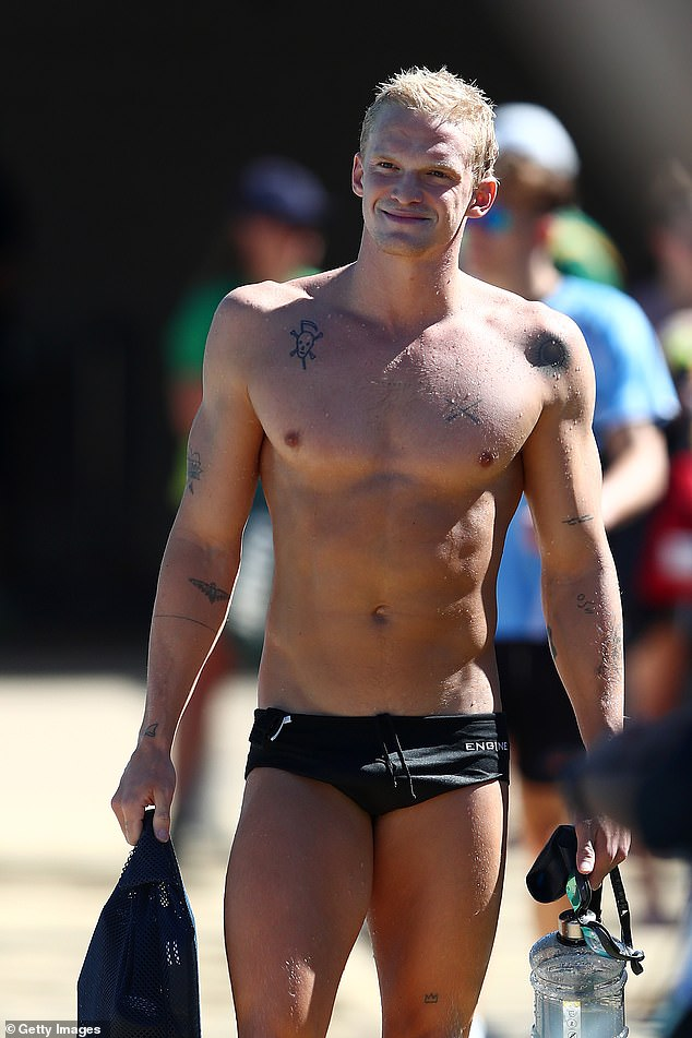 Journey to the Olympics: Cody recently revealed his exact diet and training schedule. Pictured at a training session on the Gold Coast in April