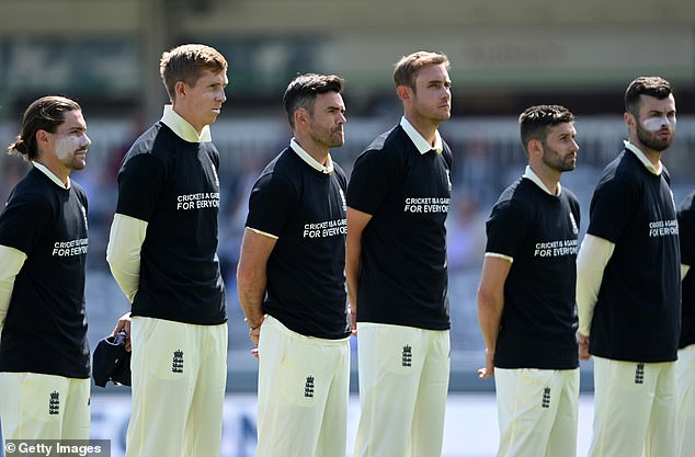 The national team vowed to wear anti-racism shirts before they face New Zealand in the second Test at Edgbaston today