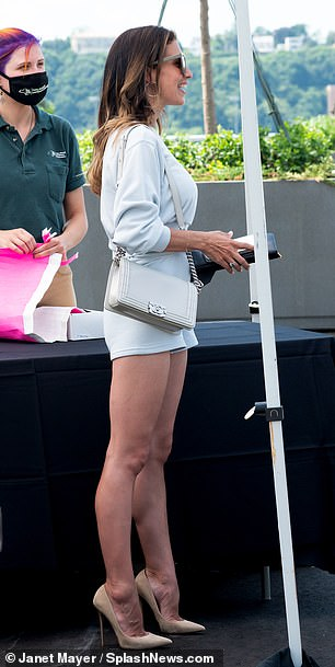 Wow! She teamed the bottoms with a matching jumper to attend aTribeca Film Festival lunch