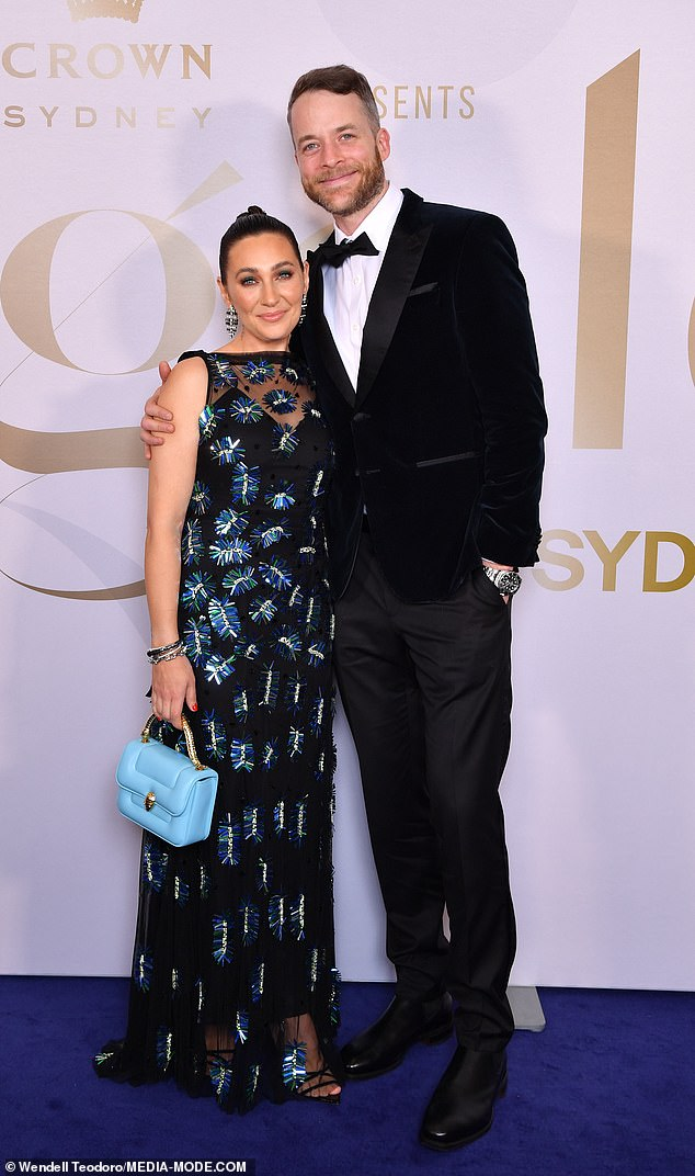 Power couple!Comedian Hamish Blake and his wife Zoë Foster Blake (pictured) also made an appearance at the star-studded event