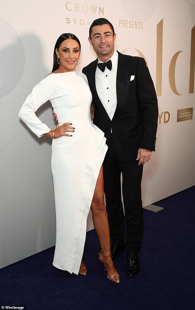 White on the mark!Terry Biviano looked like a vision in white as she arrived to the Gold Dinner with her husband, retired Sydney Roosters captain Anthony Minichiello
