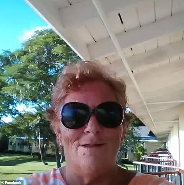 Stacey Klimovitch, 61, (pictured) was fatally shot once in the chest at her home in Queen Street in the Newcastle suburb of Stockton at about 8pm on Wednesday night