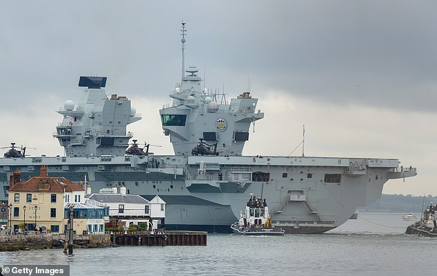The new charter will reaffirm the importance of collective security and defence links between the US and the UK. The aircraft carrier Prince of Wales is pictured leaving Portsmouth on June 6