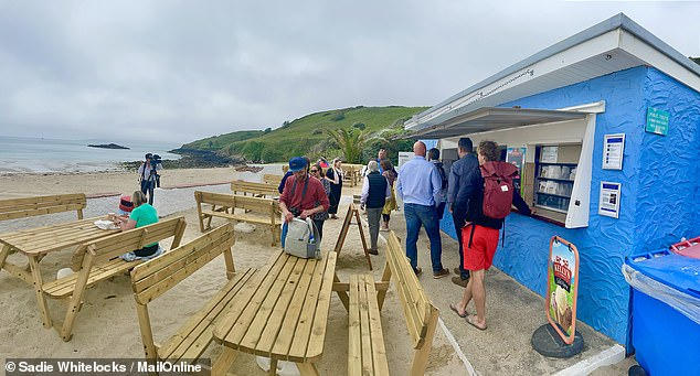 The Shell Beach Cafe on the compact, car-free Channel Island of Herm. Its old-fashioned menu offers sandwiches, fizzy pop and ice cream
