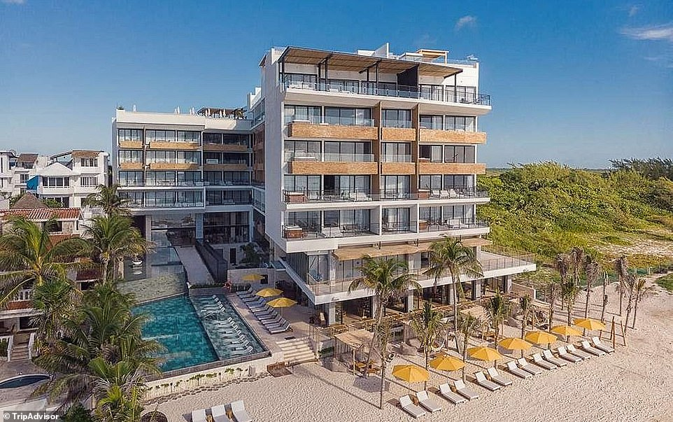 25. THE FIVES OCEANFRONT, PUERTO MORELOS, MEXICO: This five-star oceanfront property sits on an inviting sandy shoreline in front of the Puerto Morelos Reef National Park. Tripadvisor says the views are 'exceptional', with guests finding themselves 'face to face with the majestic ocean from their rooms'