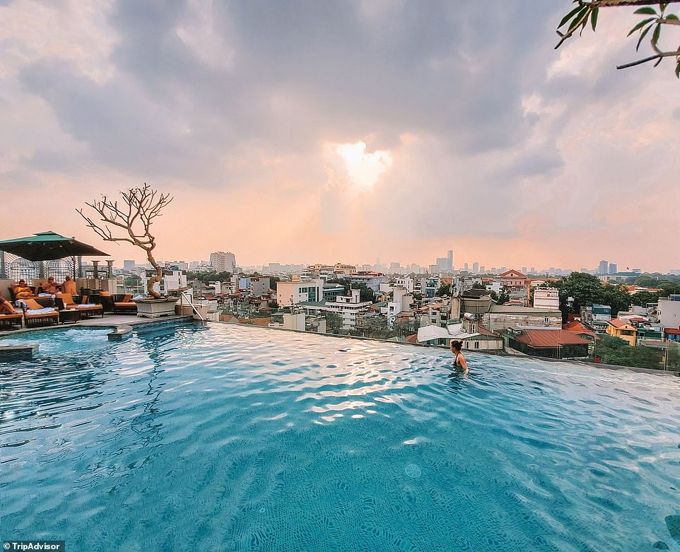 4. PERIDOT GRAND HOTEL & SPA BY AIRA, HANOI, VIETNAM: This infinity pool contributes to this five-star boutique hotel in Hanoi's Old Quarter being an 'oasis of tranquillity'. Tripadvisor highlights that the hotel 'stands out as an artistic and urban-chic place, fusing natural elements, yet combining sophisticated luxury with captivating grandeur and uncompromising service'