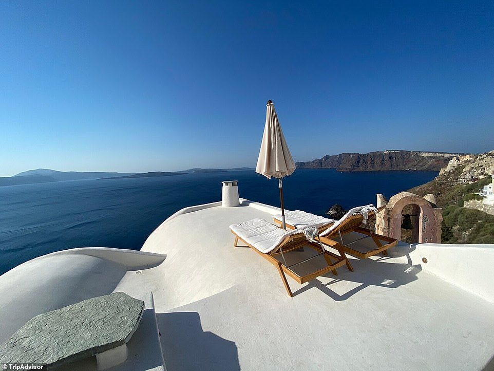 """2. ARMENAKI SANTORINI, GREECE: A scene straight out of a movie is how Tripadvisor describes this luxury boutique property, perched on a caldera cliff on Greece's most mystical volcanic island. One guest on Tripadvisor writes: 'This hotel is exactly what you would expect as the perfect hotel in Santorini. You literally go """"inside the postcard""""'"""