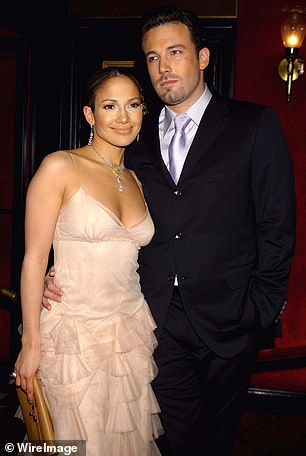 Back at it: Lopez and Affleck are dating again after being engaged almost 20 years; seen here in 2003