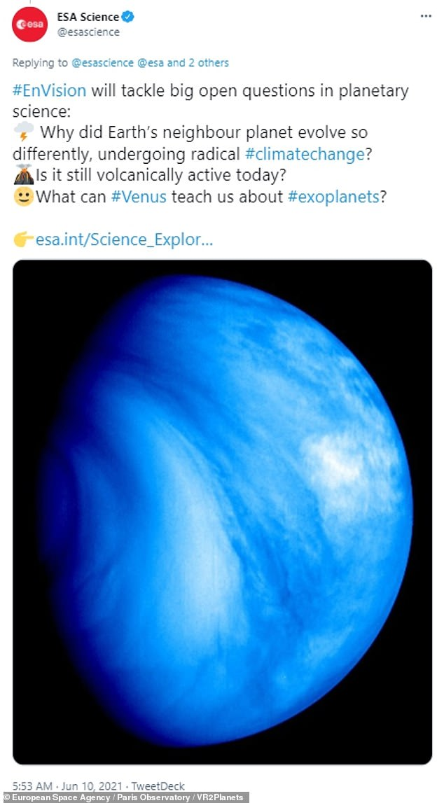 EnVision will help researchers learn why Venus is so different from Earth, if it's still volcanically active and if it can teach us about planets outside the Solar System