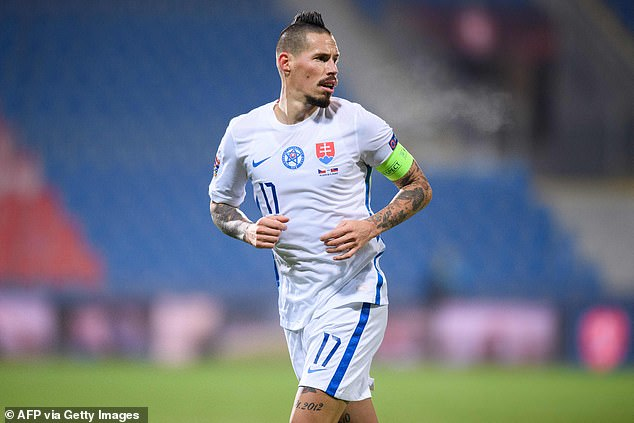 Marek Hamsik is without a club but Slovakia's record scorer will hope to make an impression