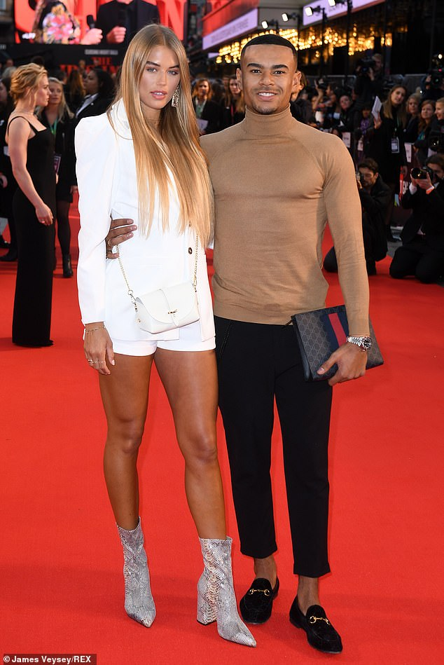 Former flame: Wes then romanced model and fellow Islander Arabella Chi, 29, but they split in April 2020 after nine months of dating (pictured in 2019)